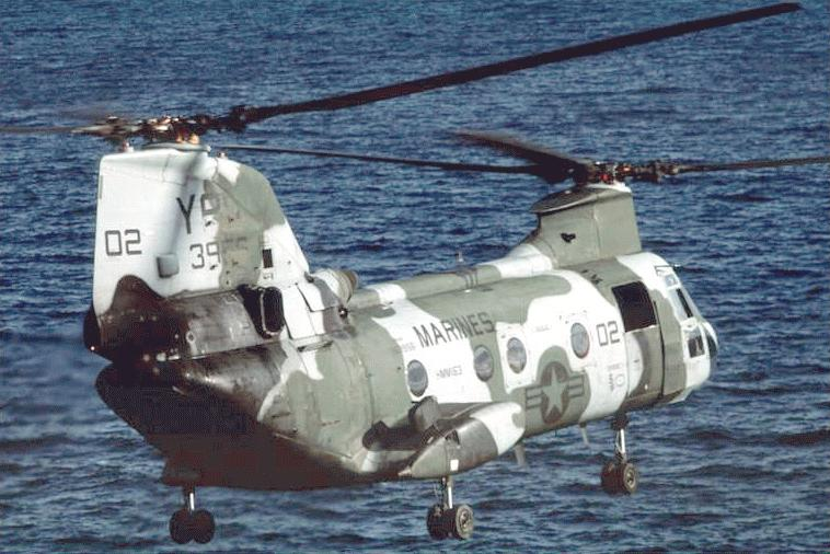 Ch 46e Sea Knight Helicopter Military Aircraft