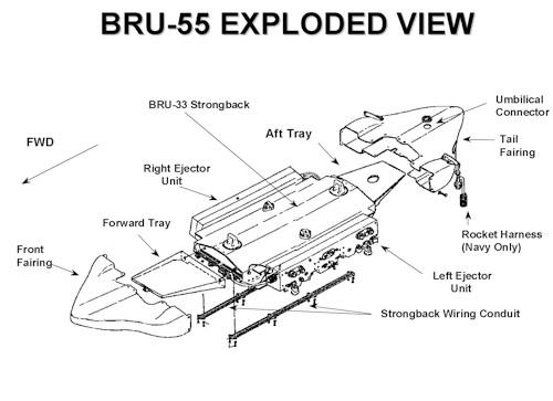 bru a bru a multiple carriage   u0026quot smart u0026quot  bomb rack