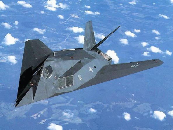 F 117 Nighthawk At Night F-117A Nighthaw...
