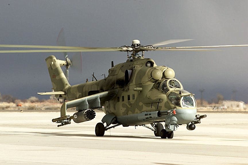Mi24 attack helicopter