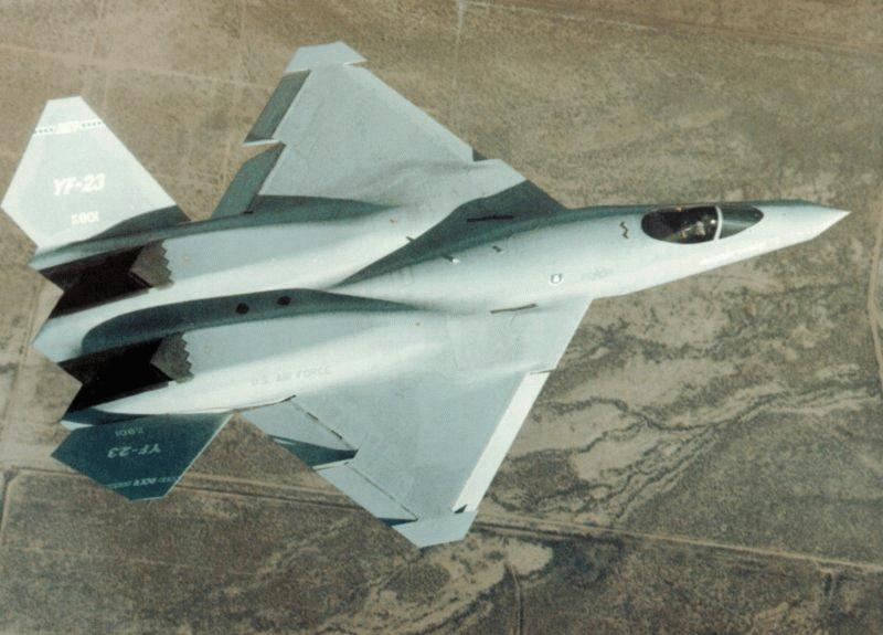 Lockheed Martin F-22 Raptor Yf-23-desert