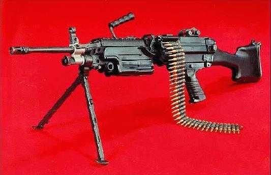 Light Machine Gun Saw Squad Automatic Weapon...