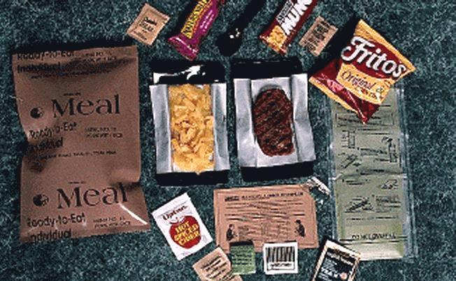 Les MRE- rations de combat américaines Mre