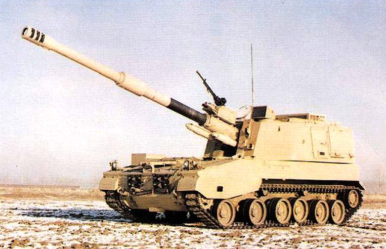 systèmes d'artilleries autotractés et autopropulsés Plz45-155sp-gun245P