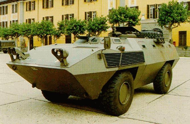 fiat 6614g 4x4 armored car    km 900 apc